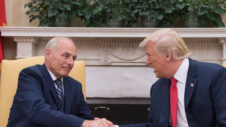 John Kelly was sworn in as White House Chief of Staff in a ceremony with the President