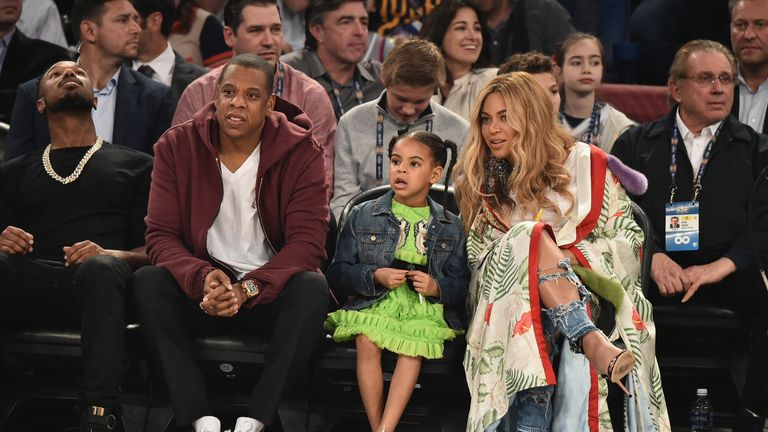 The stars made an identical application after the birth of daughter Blue Ivy