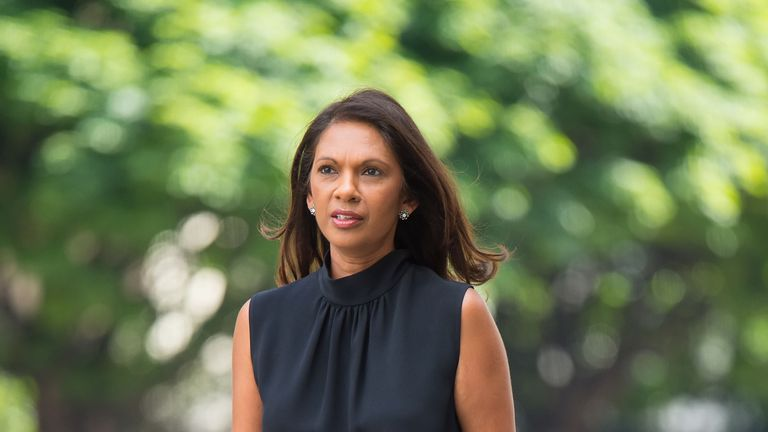 Gina Miller arrives at Westminster Magistrates' Court