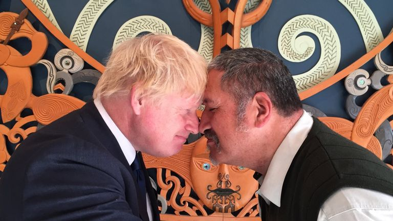 Boris Johnson in New Zealand