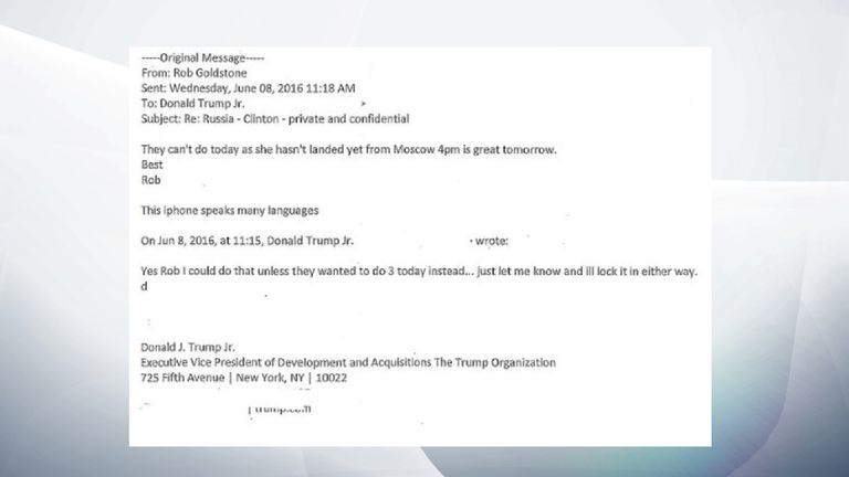 PART 7 - Trump Jr email exchange