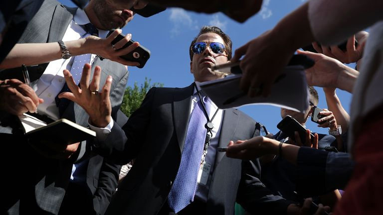 Scaramucci made lewd comments about his colleagues in conversation with a journalist