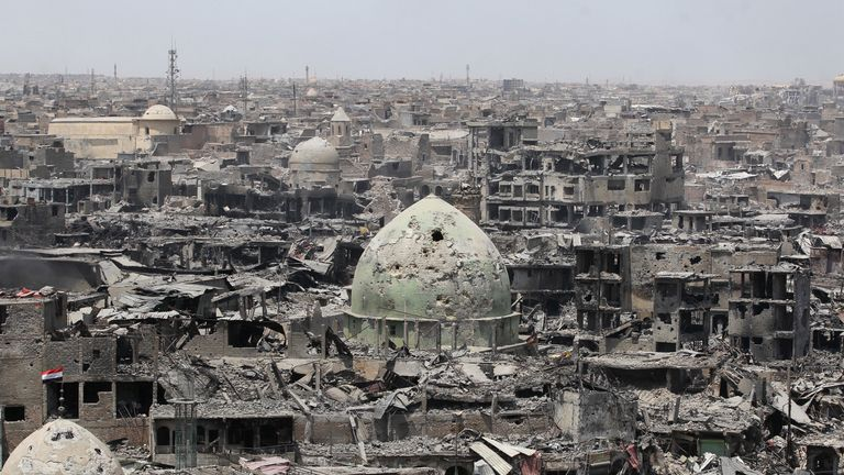 Mosul's Old City has been severely damaged  in the fighting