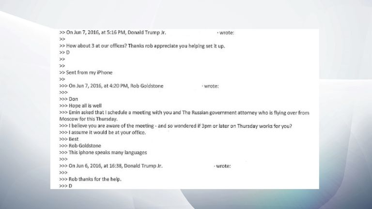 PART 5 - Trump Jr email exchange