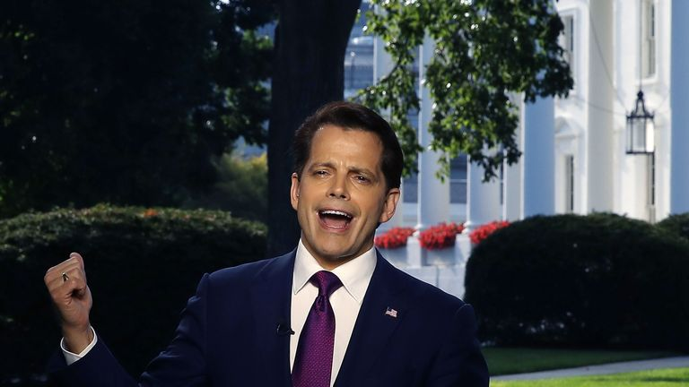 """Mr Scaramucci tweeted that his mistake was """"trusting a reporter"""""""