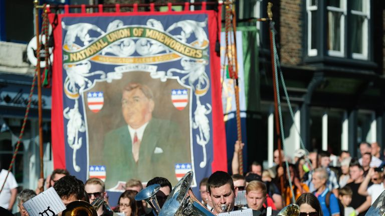 Jeremy Corbyn described the Durham Miners' Gala as Britain's foremost festival of working class culture