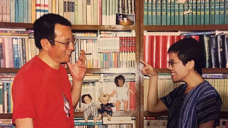 Liu Xiaobo with his wife, Liu Xia