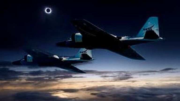 A team of NASA-funded scientists will 'chase' the eclipse in research aircraft. Credit: NASA/Faroe Islands/SwRI
