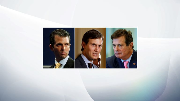 Donald Trump Jr, Jared Kushner, Paul Manafort
