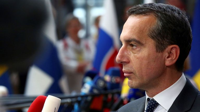 Christian Kern has tried to reassure Austria's neighbour