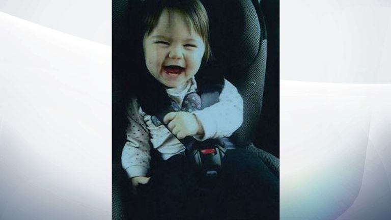 Macey Hogan, two, was suffocated by her mother last year. Pic: Staffordshire Police