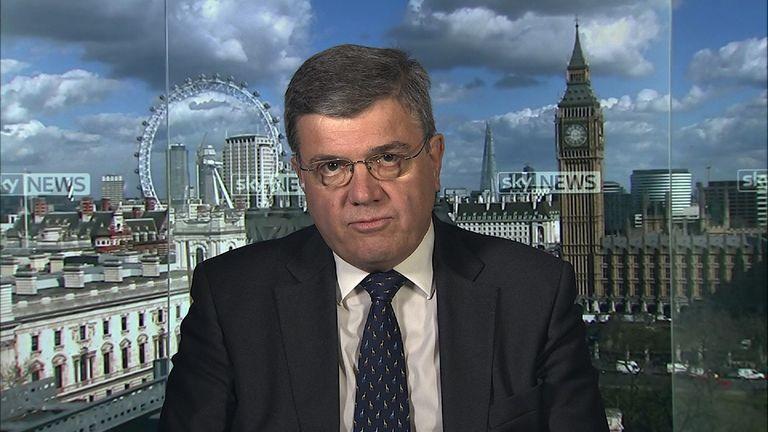 Peter Clarke, the former Metropolitan police head of counter-terrorism talking in Millbank studio.