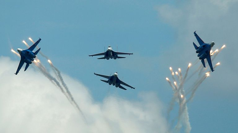 Russia has been warned about 'unsafe intercepts'. File pic