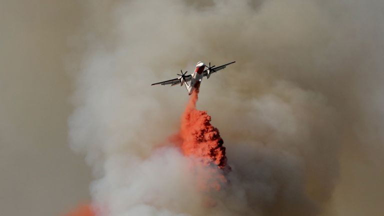 Fire near Nice, France July 2017
