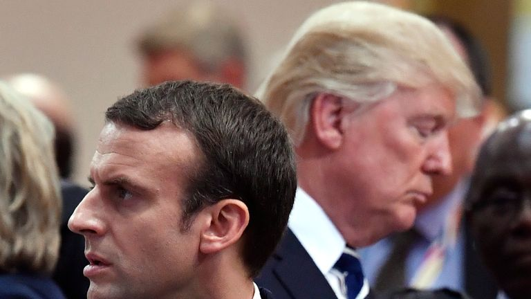 French President Emmanuel Macron and US President Donald Trump