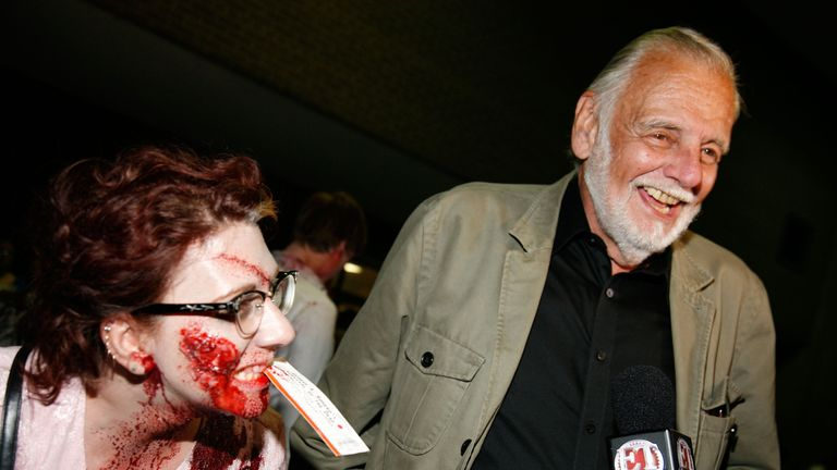 George Romero's films gained a cult following and redefined the horror genre