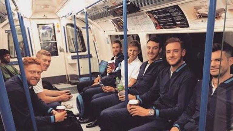 Stuart Broad described the journey at #morningcommute