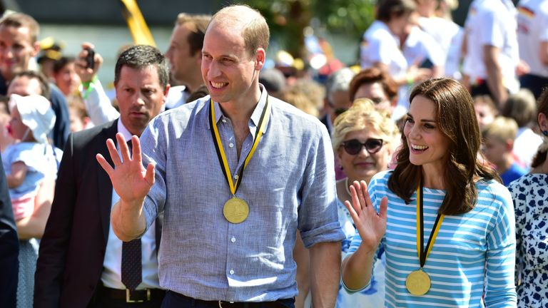 The royal couple were then treated to local beer
