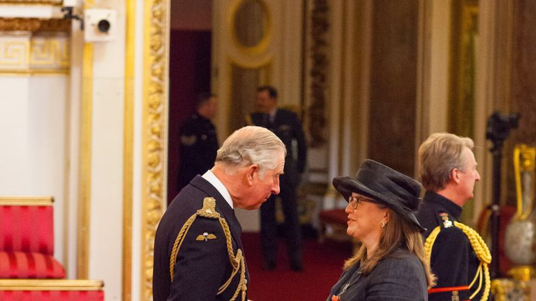 Tracey McDermott received her CBE from the Prince of Wales last year