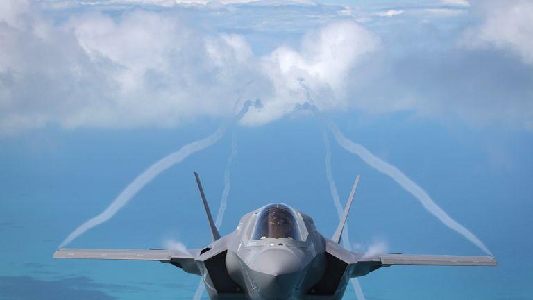 An F-35 Lightning fighter jet