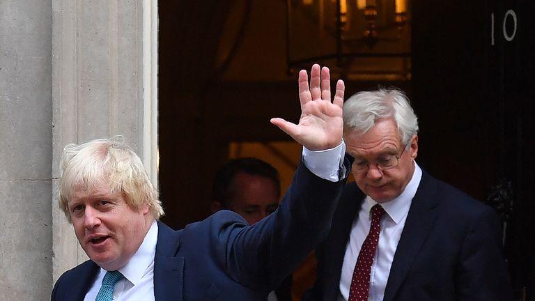 Boris Johnson and David Davis