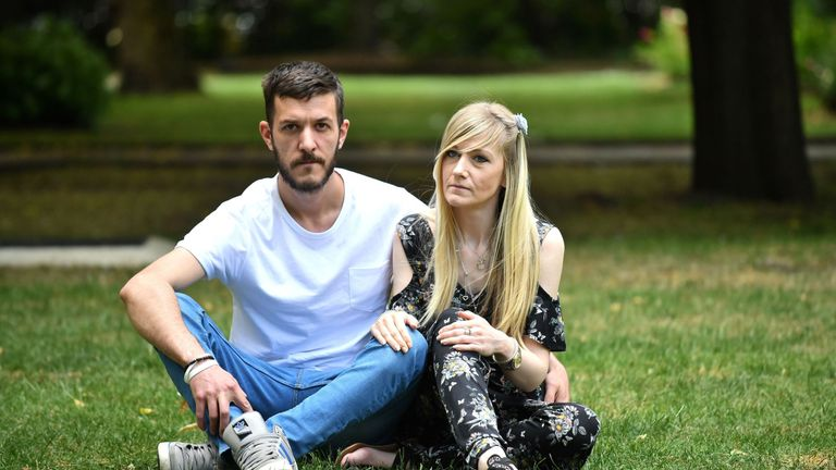 Charlie Gard's parents delivered a petition to the hospital