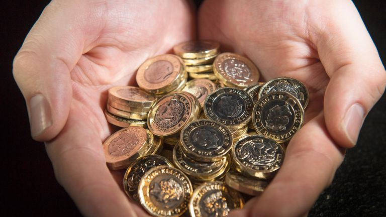 The new 12-sided £1 coins