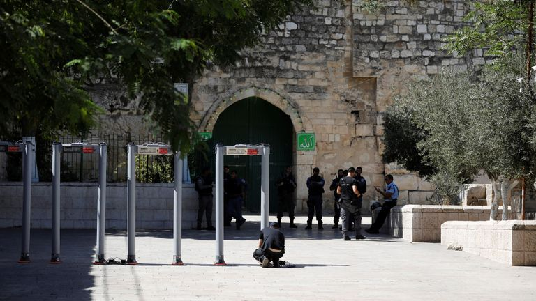Palestinians Clash With Israeli Forces At Al Aqsa In