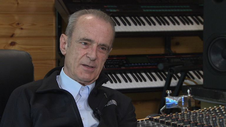 Francis Rossi of Status Quo speaking to Sky's Ian Woods