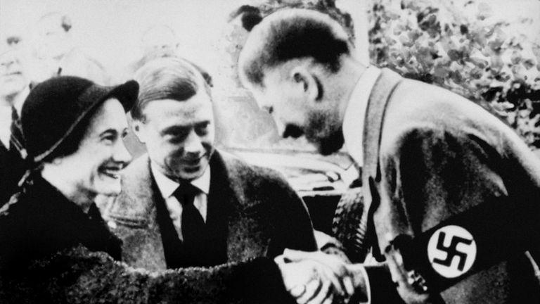 The Duke and Duchess of Windsor met Adolf Hitler in October 1937