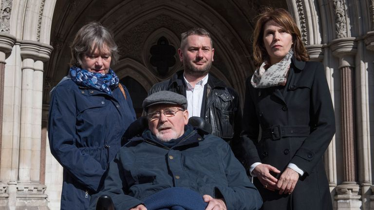 File photo dated 21/03/17 of retired college lecturer Noel Conway, 67, who suffers from motor neurone disease, as he is to continue his battle against the law on assisted dying at the Court of Appeal.