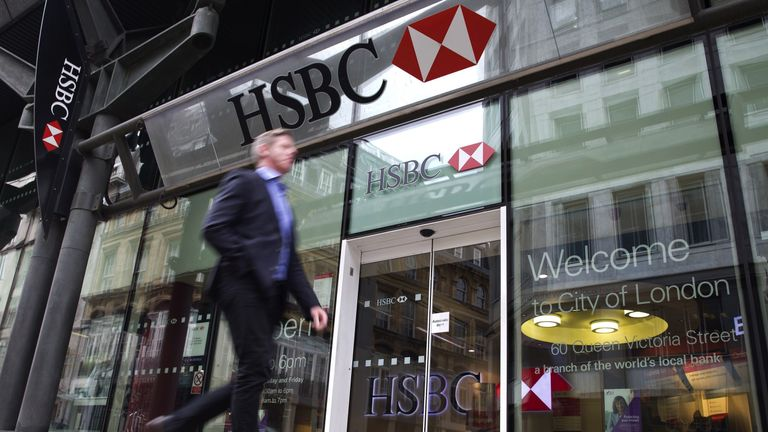 A HSBC branch in London