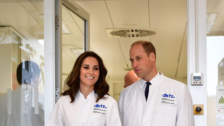 Wills and Kate visit German Cancer Research Centre