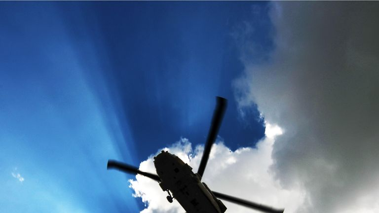 The defendants all deny misusing a South Yorkshire Police helicopter. File  pic