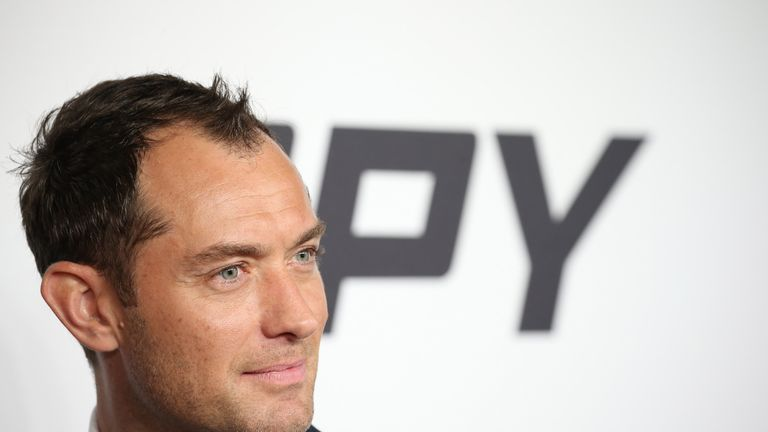 Actor Jude Law attends the 'Spy' New York Premiere at AMC Loews Lincoln Square on June 1, 2015 in New York City. (Photo by Neilson Barnard/Getty Images)