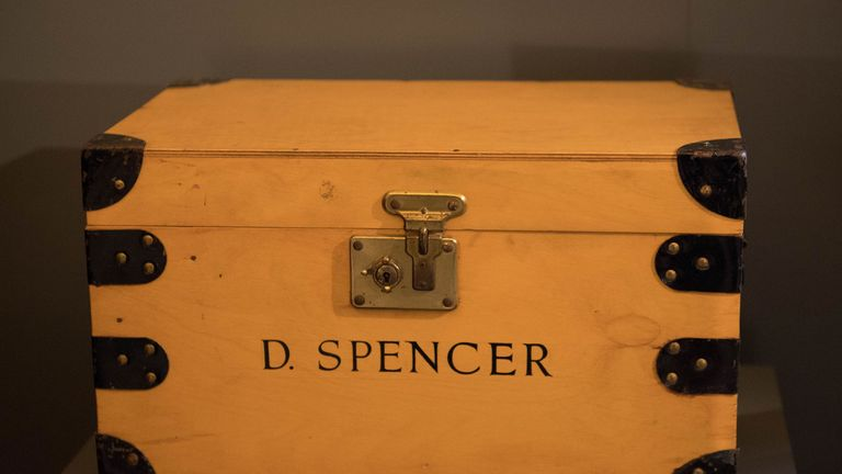A named box on the desk from the Kensington Palace sitting room of Diana