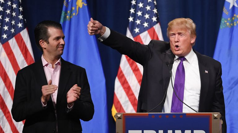 Trump Jr met the lawyer during the 2016 Presidential election campaign