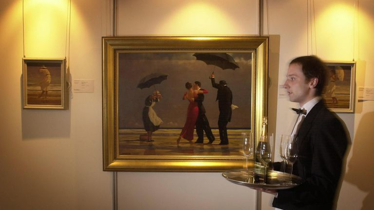 Jack Vettriano's 1992 painting The Singing Butler came third in a poll of the nation's favourite artwork