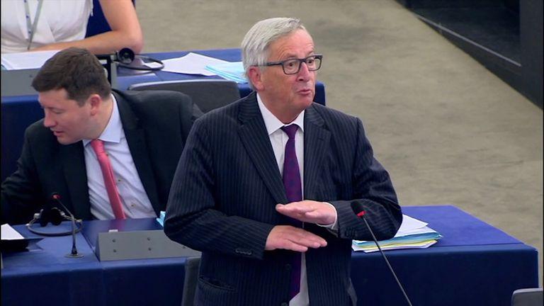 Jean-Claude Juncker in the EU Parliament