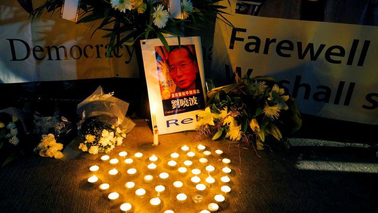 Vigils were held for  Liu Xiaobo