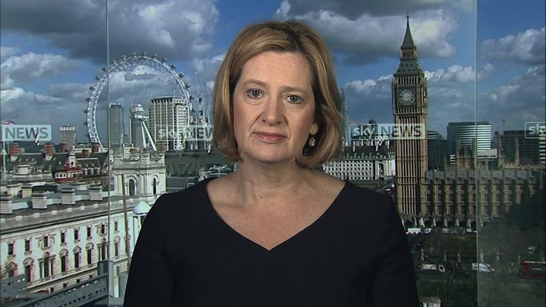 Home Secretary Amber Rudd says the government is getting on with the job