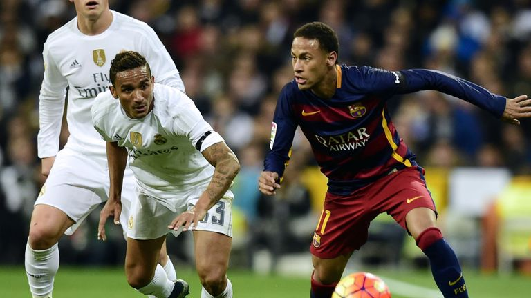 Danilo was given a torrid time by his former Santos team-mate Neymar and Barcelona in El Clasico as the visitors won 4-0 at the Bernabeu