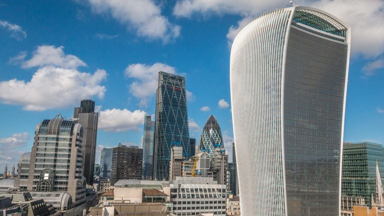 The Walkie Talkie building at 20 Fenchurch Street, London.