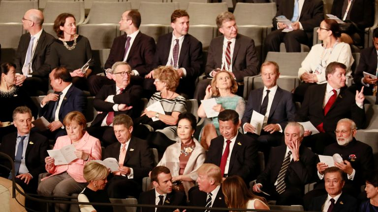 World leaders at concert