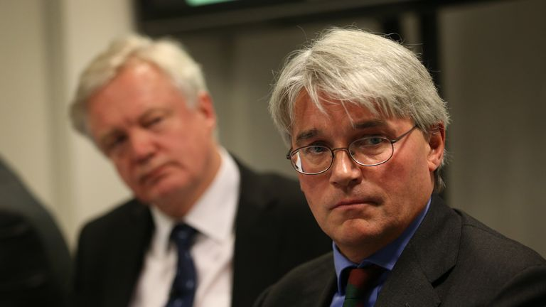 Andrew Mitchell pictured with David Davis in 2013