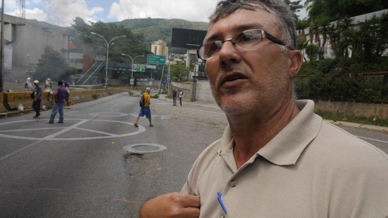 Juan Vieda, a protester in Venezuela