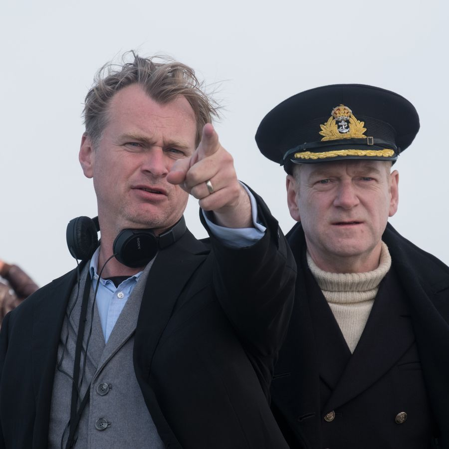 Nolan and Branagh at Dunkirk