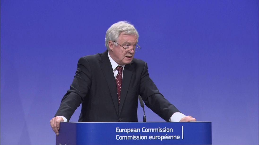 Brexit Secretary David Davis says the UK is more flexible than the EU