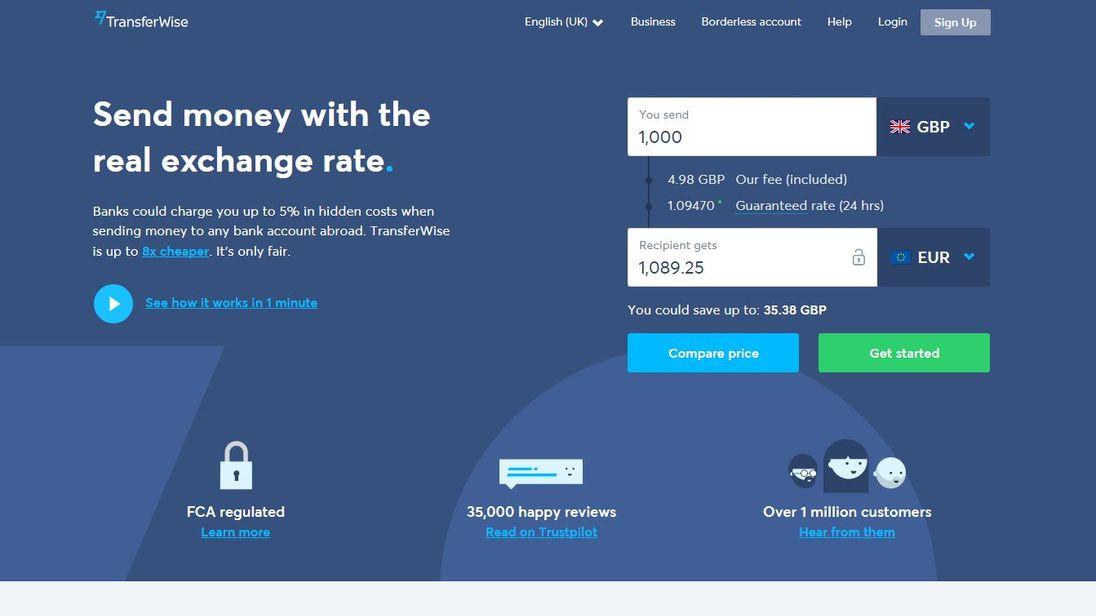 TransferWise website
