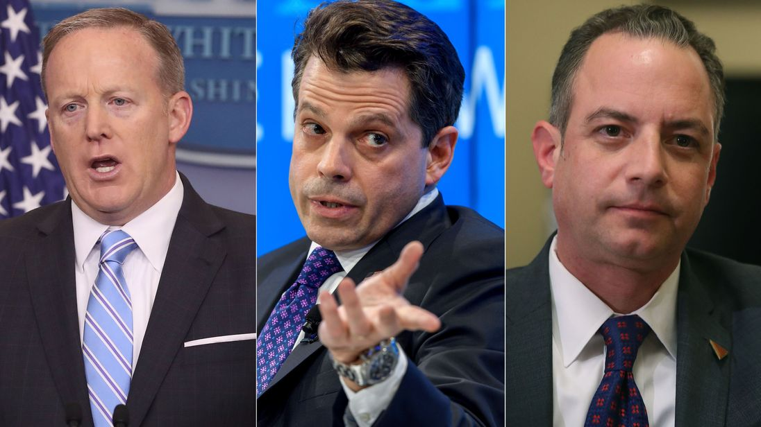 Sean Spicer, Anthony Scaramucci and Reince Priebus